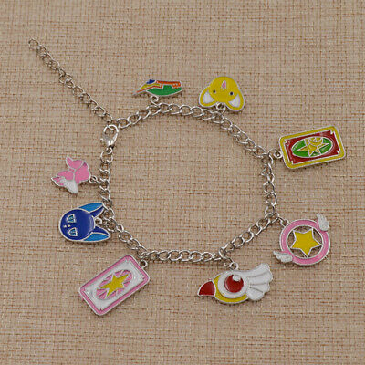 Anime Card Captor Sakura Metal Bracelet Bangle Kinomoto Cosplay Jewelry Gift