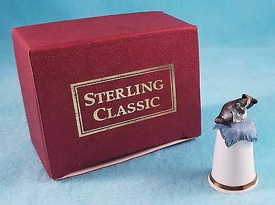 STERLING CLASSIC - Cats Collection - Short Haired Tortoiseshell White - Thimble