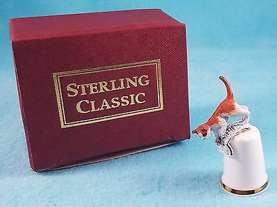 STERLING CLASSIC - Cats Collection - Cat with Newspaper Thimble
