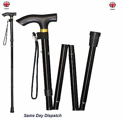 Walking Stick-Folding & Adjustable With Hand Strap Light In Weight