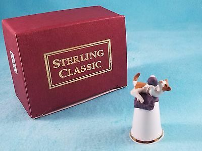 STERLING CLASSIC - Cats Collection - Cat Knitting - Playing with Yarn - Thimble