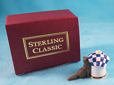 STERLING CLASSIC - Cats Collection - Cat Eating - Dreaming about Food - Thimble