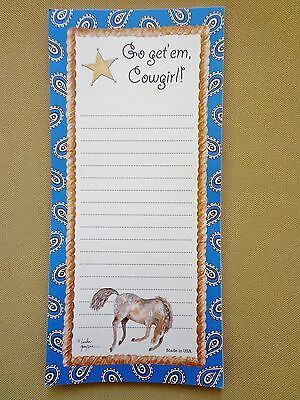 "Linda Grayson 8"" X 4"" Appaloosa Horse Cowgirl Paper Note Reminder MEMO PAD"