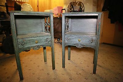 Antique Nightstands Pair - Morocco Style