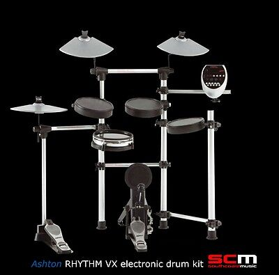 Bonus Drum Throne! Ashton Rhythm VX Electronic Drum Kit Dual Zone Snare