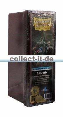 Dragon Shield - Four Compartment Card Box - Braun Standard Size