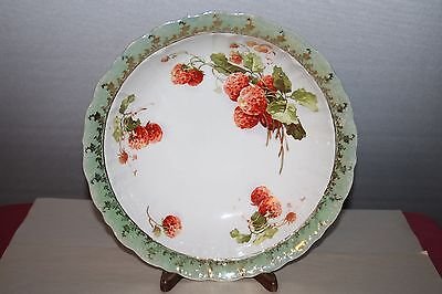 Large Crescent K China Serving Bowl with Strawberry Design #4037