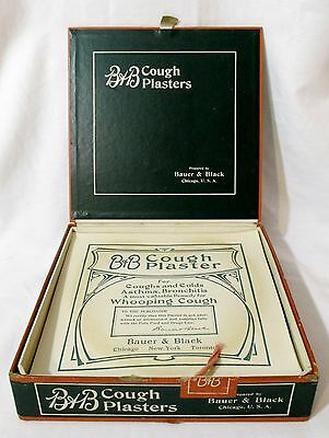 Antique Bauer & Black COUGH PLASTERS Medical Medicine Pharmacy Store Display