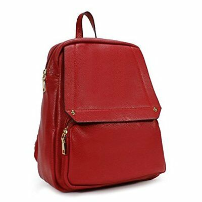 Chic Backpack Laptop Leather Bag Shopping Office Women Men Daily Red Gift NEW