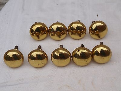 9 Reclaimed Brass Cupboard Door Drawer Handles Knobs Pulls