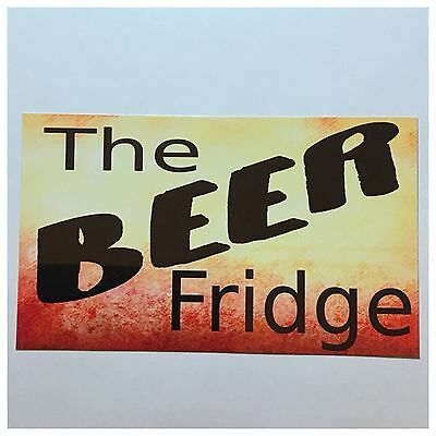 Beer Fridge Sign Tin/Plastic Wall Plaque Door Hanging Man Shed Bar Dad Father