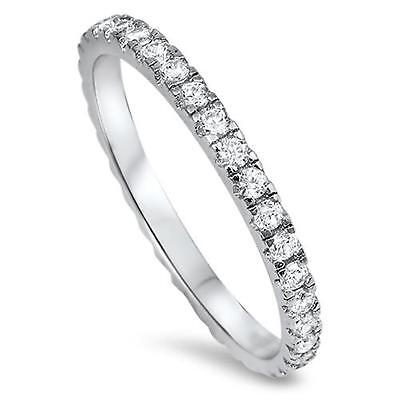 NEW STACKABLE ETERNITY RING ~ Genuine STERLING SILVER Ring ~ Size 5 6 7 8 9 10