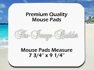 50 Blank 1/8 Mousepads 7 3/4 x9 1/4 Sublimation/Heat Transfer Mouse Pads 1/8FS50