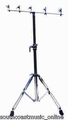 Pro Quality Double Braced Cowbell Stand Light Weight & Sturdy Cow Bell Stand