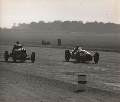 Two E.r.a. Racing At Silverstone Grand Prix, 2.oct.1948 Period Photograph.