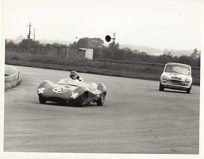 LOTUS SPORTS CAR No.29, LEADING MINI, PERIOD PHOTOGRAPH, BY GUY GRIFFITHS.