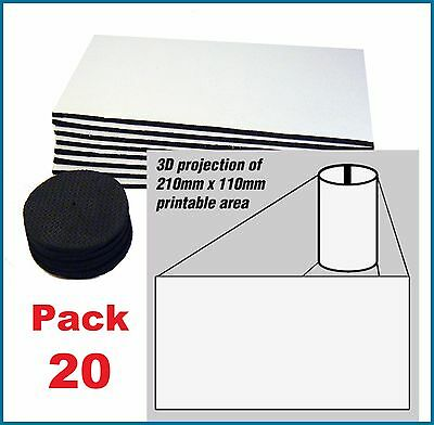 20 x BLANK STUBBY HOLDER panels and bases FOR sublimation printing