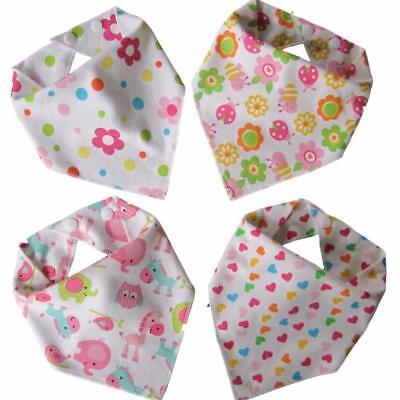 Baby Bandana Dribble Bibs (Girl 4 Pack) Pink toddler babies shower gift drool
