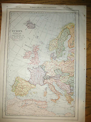 1921 Collier Railroad MAP NETHERLANDS / EUROPE Western Part Iceland    DATED