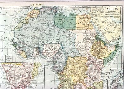 1921  Collier Railroad MAP AFRICA Kenya / SOUTH AMERICA South  DATED