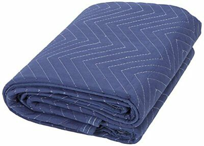 """72x80"""" Multi Purpose Dual Sided Residential Moving Protecting Cover Blanket Blue"""