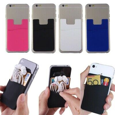 Quality Silicone Mobile Phone Smart Wallet Card Cash Opal Credit Card Holder 3M