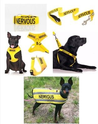 Colour Coded Dog Warning Awareness - NERVOUS Harnesses Leads Collars Coats
