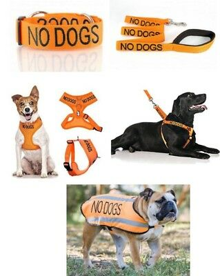 Colour Coded Dog Warning Awareness - NO DOGS Harnesses Leads Collars Coats