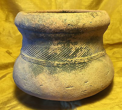 "Ancient 6"" Chinese Asian Terracotta Pottery Pot Jar w Round Bottom: Shipwreck ?"