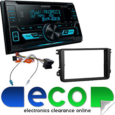 VW Caddy Van SONY Double Din CD MP3 iPod iPhone USB AUX In Car Stereo & Fascia