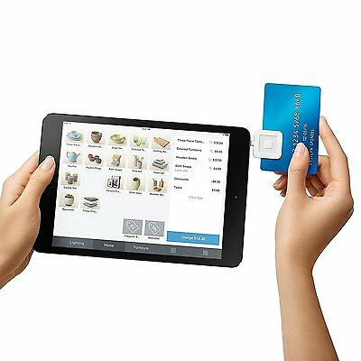 Mobile Debit Credit Card Square Reader Writer on Smart phone Iphone Ipad Android