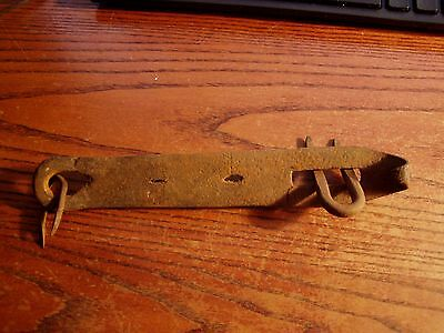 """8  """" Hand Forged Barn Door/Gate Latch,  Hasp with loops"""