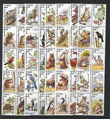 United States 1987 North American Wildlife Set Of 50 Unmounted Mint, Mnh.