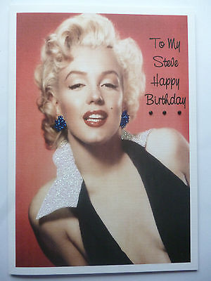 Personalised Hand Made Adult Marilyn Monroe Birthday Card A5 325