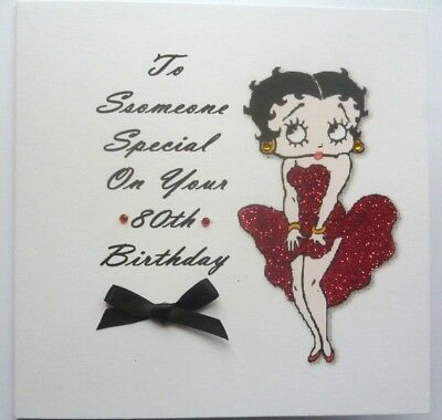 Personalised Hand Made Betty Boop Birthday Cards 375 Picclick Uk