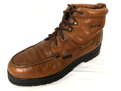 17c2178732c WOLVERINE LOW-PROFILE STEEL Toe Moc Toe Boots Mens 12 M Brown 08404