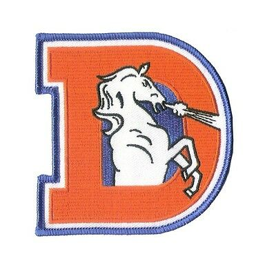 "3 5/8"" X 3 1/2"" Old Style Denver Bronco Logo - Super Bowl Champs - Motorcycle HD"