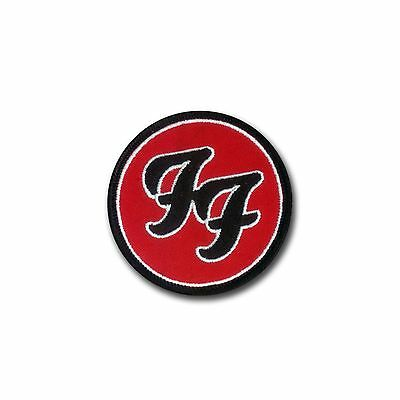 Foo Fighters Classic Design - Hook & Loop Backed Embroidered Patch - Foo Music