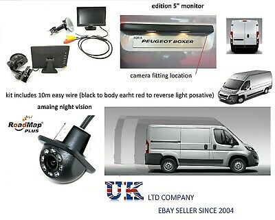 peugeot boxer citroen relay rear reverse parking camera 5 inch monitor