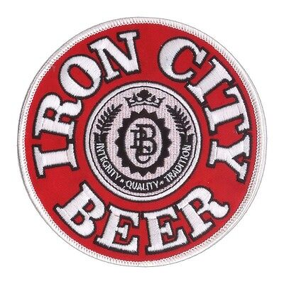 "New 4 3/4"" Iron City Beer Embroidered Patch Pittsburgh Brewing - Blue Collar USA"