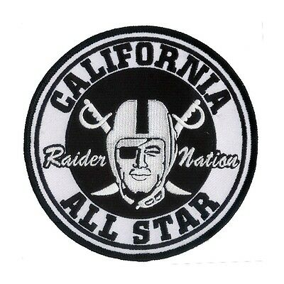 "Large Oakland Raider Football Nation Patch (4 3/4"") California All Star - NFL"
