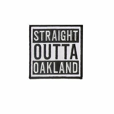"""3 1/2"""" X 3 1/2"""" embroidered patch - Oakland Raider - NFL STRAIGHT OUTTA OAKLAND"""