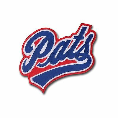 """New England Patriots """"PATS"""" Embroidered Patch with Wax Backing - NFL Football"""