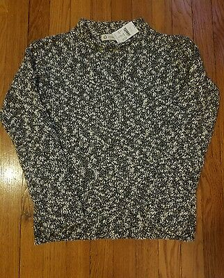 J Crew Crewcuts Marbled Black Gray and White Sweater Youth sz 10 NWT