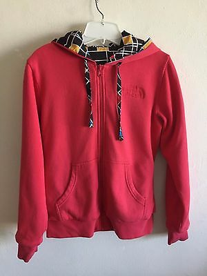 The North Face Reversible Sweatshirt Hoodie Lined Zip Front Women's Small New