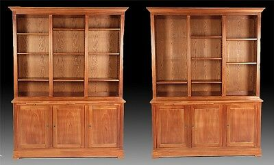 PAIR FRENCH LOUIS XVI STYLE BOOKCASES 1900 Lot 455