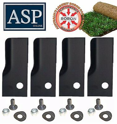 4 Blades & Bolt Kits For Rover Heavy Duty Blade Suit Xht Hardened Blades A03830