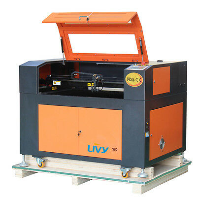 NEW EFR 100W CO2 LASER ENGRAVING CUTTING MACHINE 900X600mm CW-3000 Chiller