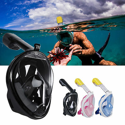 Breather Full Face Snorkeling Mask Scuba Diving Swimming Snorkel for Gopro Set
