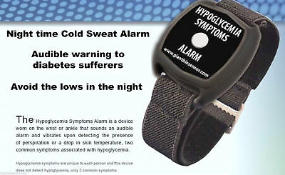 Low Blood Sugar Wrist Worn Alarm Hypoglycaemia Monitor Cold Sweat Alarm Diabetes